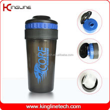 Healthy BPA free good price 600ml plastic protein shake bottle with lid (KL-7025)