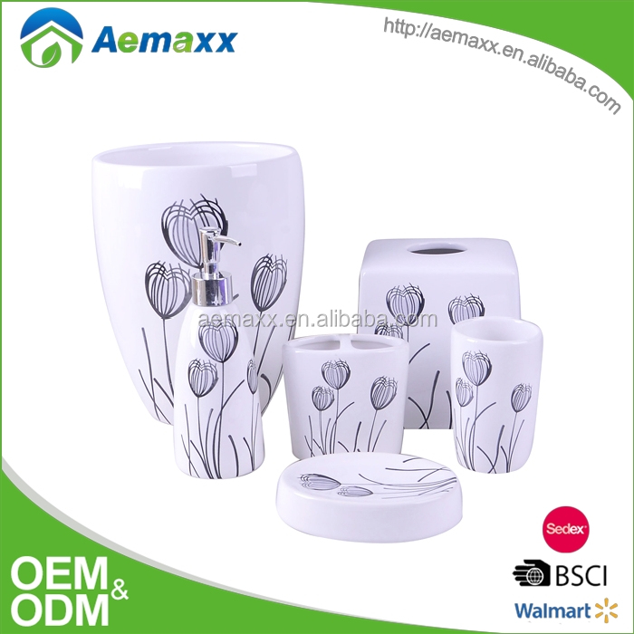 Top sale pretty design ceramic bathroom sets