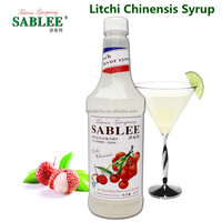 SABLEE French Litchi Chinensis Flavor Syrup S212 Molasses Fruit Flavor Syrup 900ml