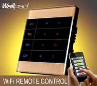 New Arrival Wallpad Gold Glass Zigbee Home Automation 3 Gang Mobile WIFI Wireless Android IOS Wifi Remote control Light Switches