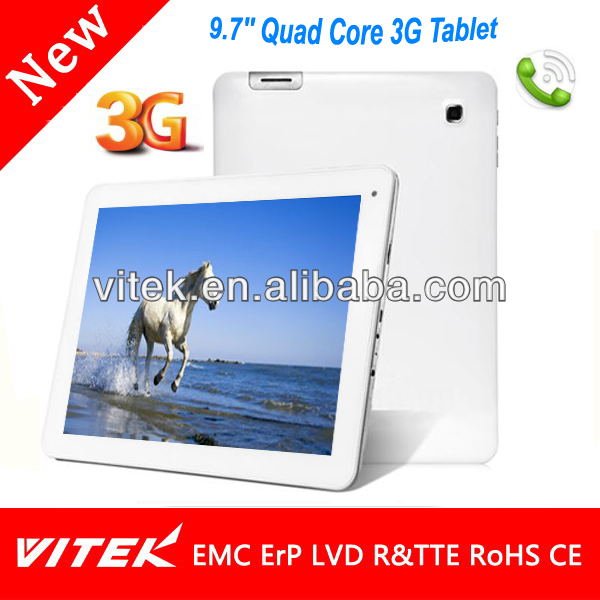 MTK8389 Quad Core 3G Portable 9.7 inch MID