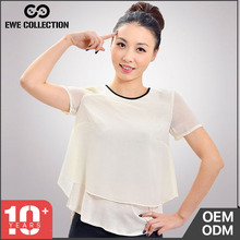 Female Tops Fashion blouse collar sleeveless casual blouse for woman