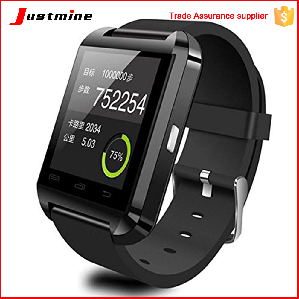 Factory price U8 smart android watch phone with dual sim card