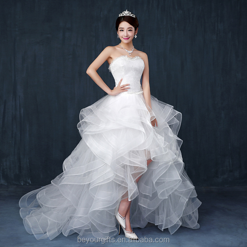 White Ball Gown Sweetheart Neck Wedding Dress For Bride