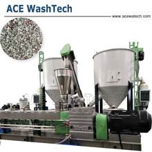 Automatic PET Bottle Regrind Plastic Granules Production Line