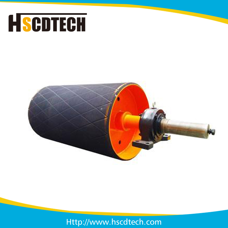 High quality rubber lagging snub conveyor drum pulleys