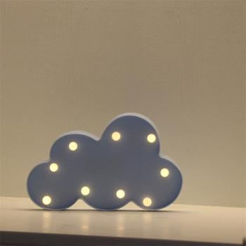 Night Light Christmas Holiday Gift Cloud Marquee lights