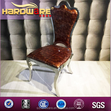 High quality hotel chairs with competitive price metal frame dining chairs and PU