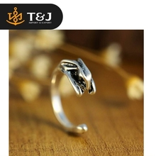 2016 New Trendy Rabbit Ring Animal Rings Women Men Wedding Engagement Alloy Rings For Sale