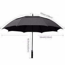 YCX Golf Umbrella Windproof 62 Inch Oversized Double Vented Canopy Auto Open Waterproof & Sunproof Extra large Stick Umbrellas