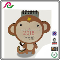 Top selling calendar design desk calendar in different shapes desktop calendar 2016