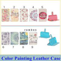 New Products Paint Flip Wallet Leather Stand Case Cover Mobile Phone Etui Coque for iPhone 4/4S 5/5S 6 6 Plus