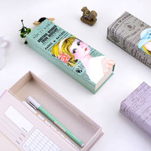 LANGUO cartoon make paper pencil boxes/pencil case stationery for school wholesale model:LGAL-2630