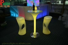 Wedding party used led furniture luxury led bar table