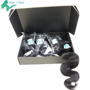 Folding Custom Printed carton shipping box for Mailer hair extension packaging