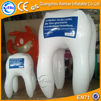 Customized advertising inflatable tooth balloon, inflatable tooth for sale