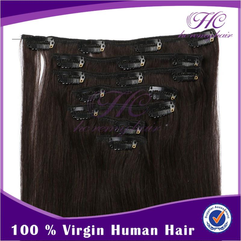Original remy curly cheap russian clips in hair extensions