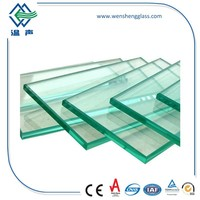 Clear and Color Polished Tempered glass (toughened glass) use in window,shower door