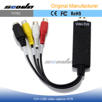 TV DVD VHS usb 2.0 dvr driver video audio cctv capture adapter easycap for Win7 Win8