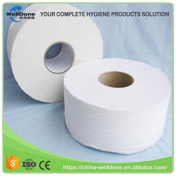 Virgin Fluff Pulp Jumbo Toilet Tissue Paper for Baby Diaper Wrapping