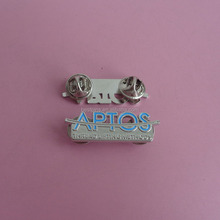 blue apto two butterfly clutch lapel pin badges emblems