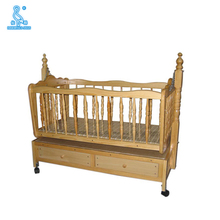 Easy Attachable Custom Dimensions Baby Cot With Drawers