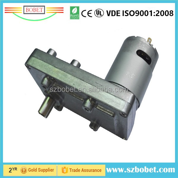High torque barbecue 12v 24v DC gearbox flat spur worm gear motors