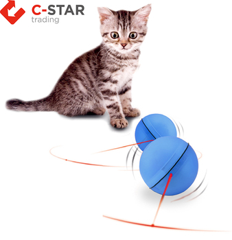 With Light Inside Crazy Plastic Interactive Cat Toy LED Rolling Pet Dog Toy Ball