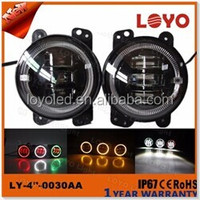 Newest 2016 DOT lamp led Devil halo ring 4inch 30w led fog light for Jeep wrangler