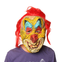 YIWU caddy MJ-052 100% Eco-friendly halloween horrible mask with red wig