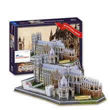 World famous architectural Westminster Abbey cool 3d puzzle
