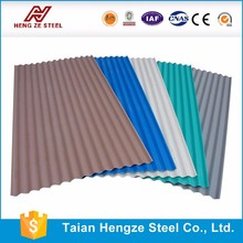 Building material Galvanized corrugated steel roofing sheet