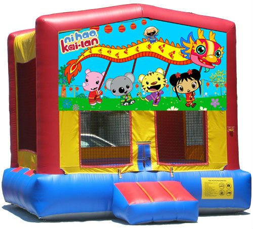 Ni Hao Kai Lan Bounce House Inflatable Jumper Art Panel Theme Banner 13' x 13' (No Bounce House)