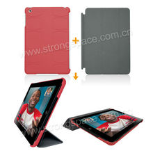 For iPad Mini Rubberized Hard Back Case Cover -Red