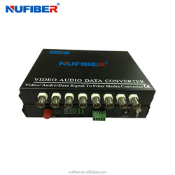 Hot sell 8-channel Rs485 Video Transmitter/receiver fiber video converter
