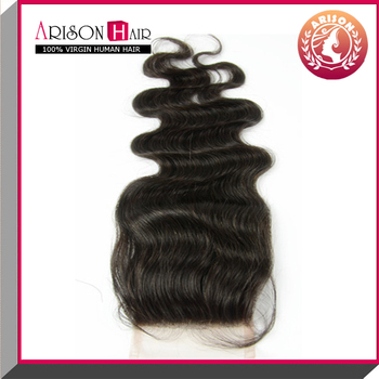virgin human hair lace closure hair density 130%