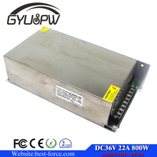 800W DC36V Single Output Switching power supply 22A Led Driver For Led Strip lamp Transformer 220v 110v AC To DC SMPS Fonte 36V