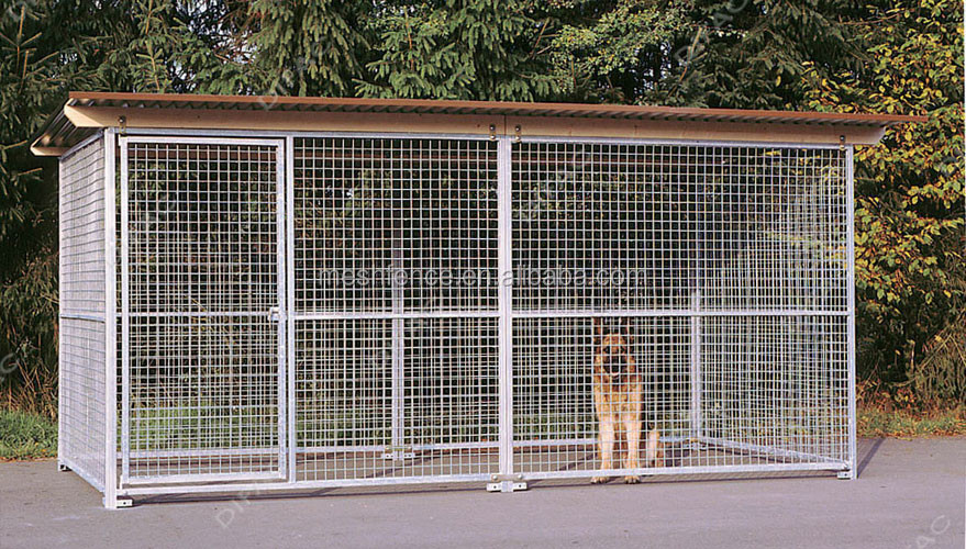 China supplier wholesale welded galvanized steel wire mesh iron fence dog kennel