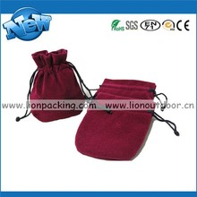 Top Grade Wine Red Velvet Jewelry Pouch Gift Packing Gem Bags