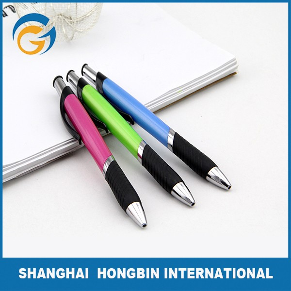 Customized Design Rubber Holder Promo Ball Pens for Business