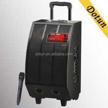 hot-sale active trolley vibration speaker with wireless MIC/MP5/usb/sd/fm radio