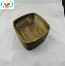 acacia wooden extra large square deep copper vegetable serving soup salad bowl