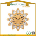 high quality unique creative novelty bamboo quartz wall clock for living room
