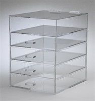 5 tiers wholesale acrylic makeup organizer with drawer