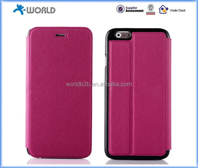 folio case jean style jean cloth and PU leather stand case for iPhone 6