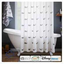 whale polyester shower curtain