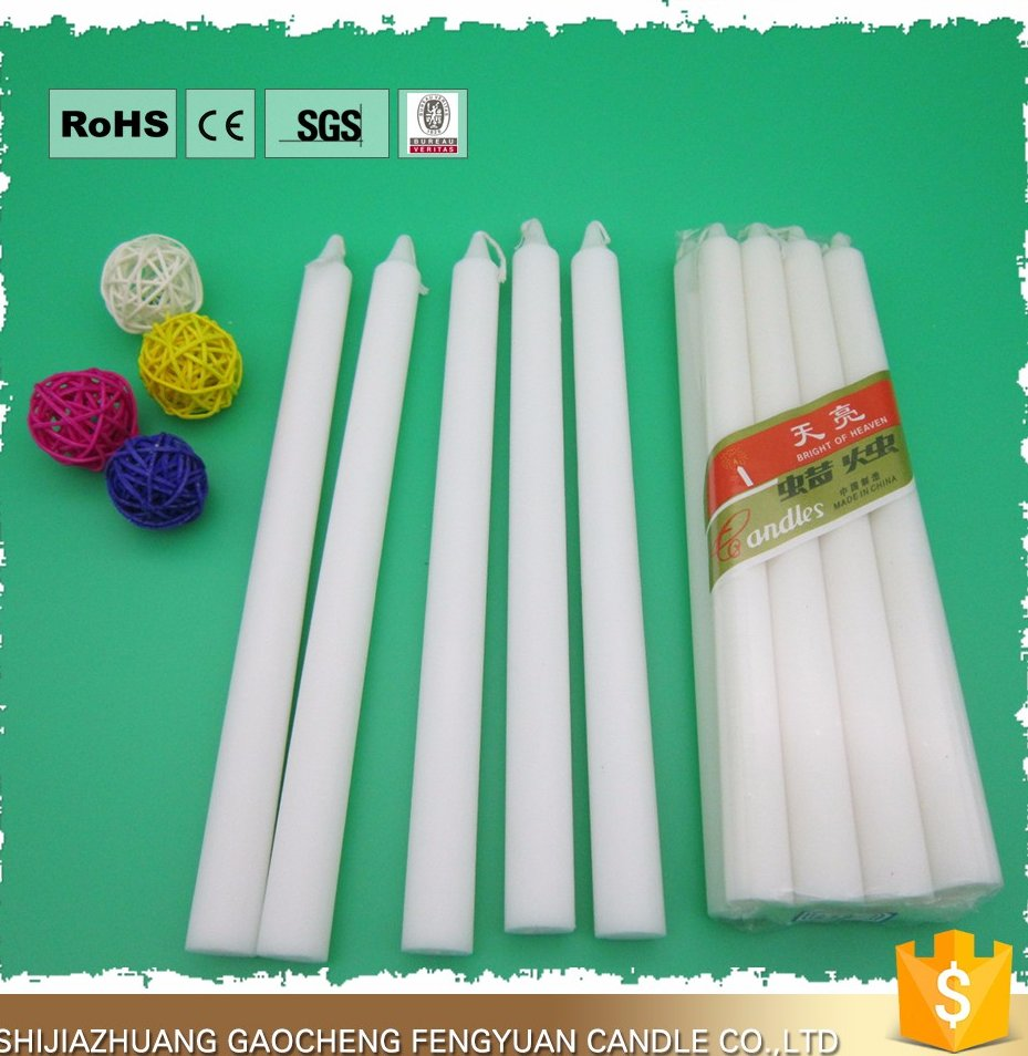 Paraffin wax white candle