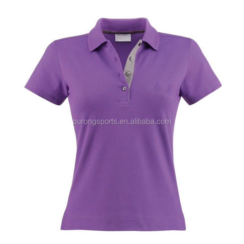 Wholesale Athletic Gym Wear Girls Cotton T-shirt Printing Companies In China Custom Blank Polo T-shirt For Women