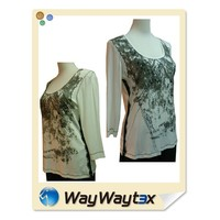 Fashion design print casual sports style viscose spandex fabric woman wear