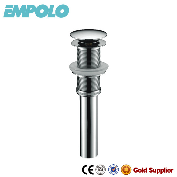 EMPOLO glass sink drainer without overflow, copper basin waste GB6001